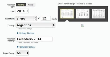 Generador de calendarios 2014 para descargar en PDF | Web 2.0 y sus aplicaciones | Scoop.it