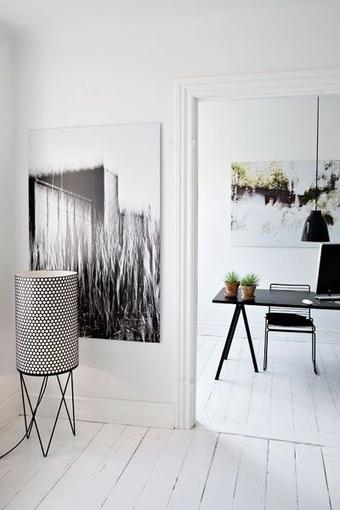 Idées déco : 10 bureaux minimalistes en noir et blanc | décoration & déco | Scoop.it