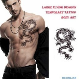 Large Flying Dragon Temporary Tattoo Removable Body Art Waterproof Stickers | joy gitfs | Scoop.it