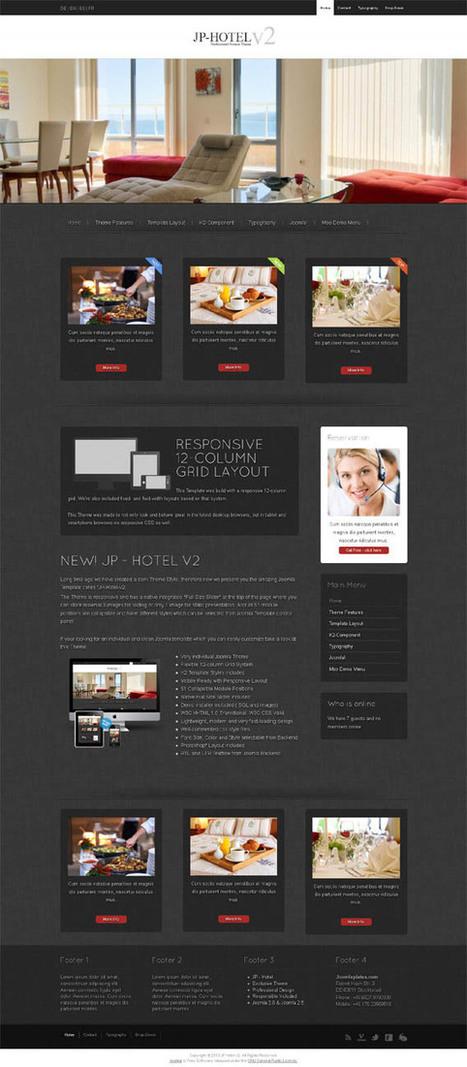 JP Hotel v2, Joomla Responsive Minimalistic Hotel Theme | Premium Download | headart | Scoop.it