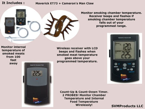 Maverick Remote Smoker Dual Probe Wireless Thermometer Et-73 | Online Store to Get Quality Products | Scoop.it