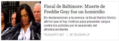 La Democracia Bananera de EEUU se va a PIQUE como su ECONOMÍA - Fiscal de Baltimore: Muerte de Freddie Gray fue un homicidio   La R-Evolución de ARMAK   Scoop.it