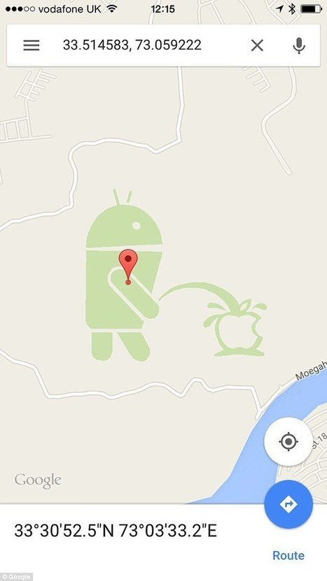 Google Maps shows Android urinating on Apple | Business Video Directory | Scoop.it
