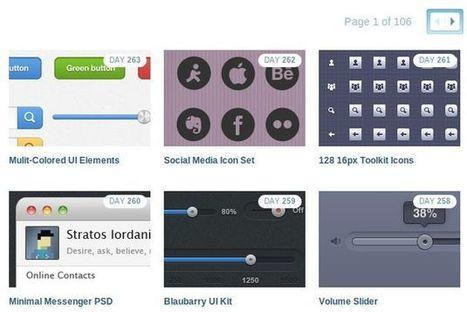 365psd: cientos de packs de iconos, botones y gráficos psd gratuitos | Recursos diseño gráfico | Scoop.it