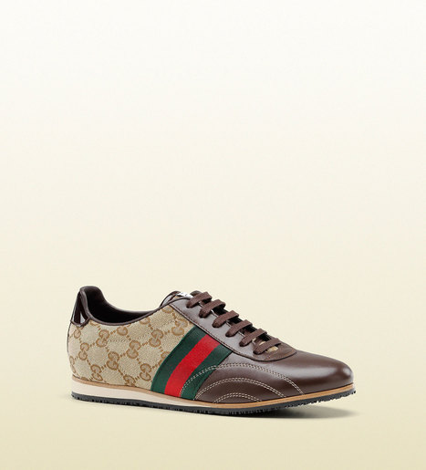 Gucci Womens Shoes Classic Guccisima Brown Sneakers (GGW3100) | Designer Womens Shoes | Scoop.it