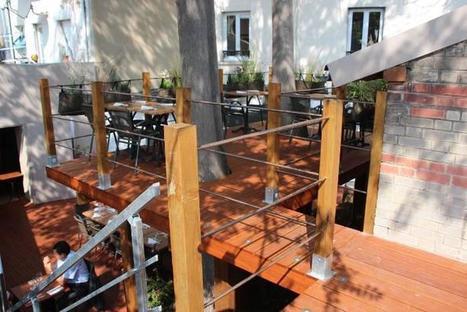 Terrasses pour diner dans les arbres : La CaVe, restaurant et caviste à Montreuil | Parisian'East : à table ! Les Restau et les Bars de la communauté urbaine des amoureux de l'Est Parisien. | Scoop.it