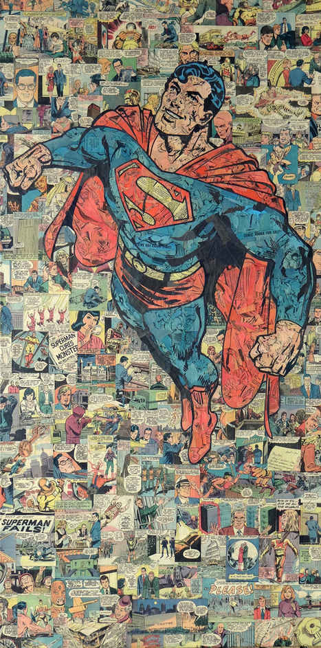 Collages of Superheroes & Villains Made From Recycled Comic Books | el mundo segun alicia | Scoop.it