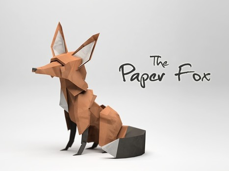 The Paper Fox by Jeremy Kool | paper-toy | Scoop.it