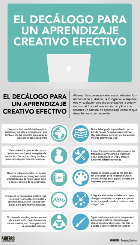 Decálogo para una aprendizaje creativo efectivo #infografia #infographic #education | Aprendiendoaenseñar | Scoop.it