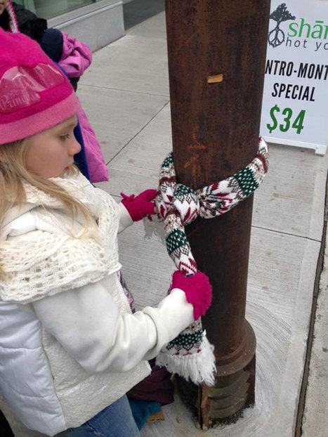 Ces enfants généreux accrochent leurs vêtements dans la rue pour les offrir aux sans-abri devant affronter l'hiver | Remue-méninges FLE | Scoop.it
