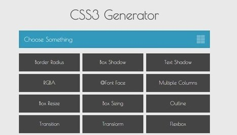 Top Free CSS3 Code Generators | elearning stuff | Scoop.it