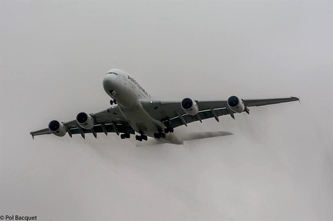 An Air France Airbus A380 landing on foggy morning | Aviation & Airliners | Scoop.it