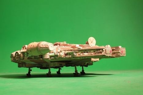 This stunning Millennium Falcon model is made out of old Cardboard | Heron | Scoop.it