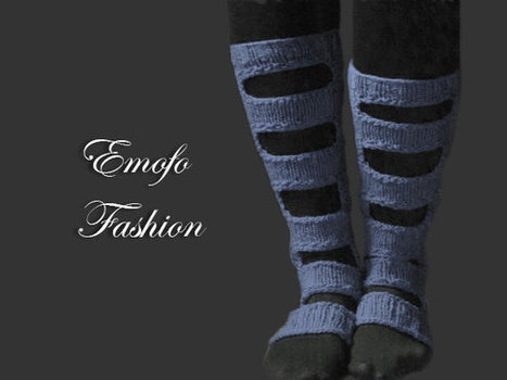 Gray Knitted Boot Socks Over the Knee Cable Knit Socks Lounge Socks Women's Legwear Fashion Accessory Perforated boho socks shabby chic | fashion | Scoop.it