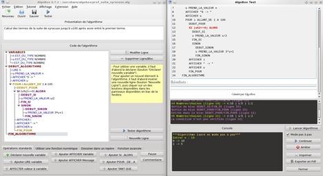 AlgoBox : Logiciel d'initiation à l'algorithmique | Innovations pédagogiques numériques | Scoop.it