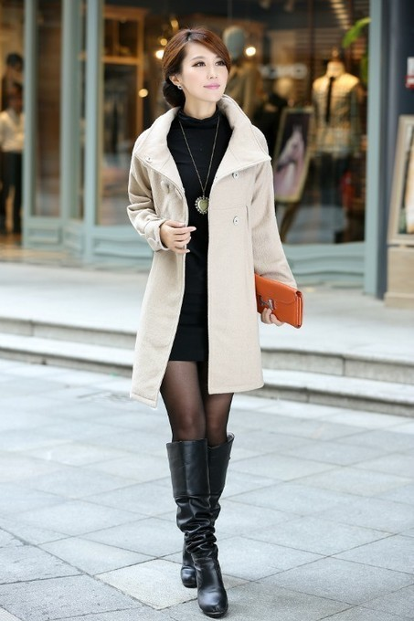 Cheap new loose waist collar double-breasted solid color coat jacket in women outcoat from women clothing on sightface.com | Cheap women Clothing Online at Sightface | Scoop.it