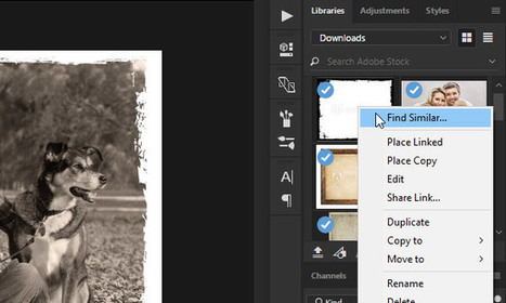 How to Use Find Similar from Libraries Panel in Adobe Applications | Adobe Creative Cloud | Scoop.it