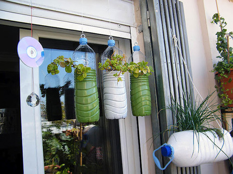 Jardín vertical con botellas : Mi huerto urbano | MACETOHUERTO | Scoop.it