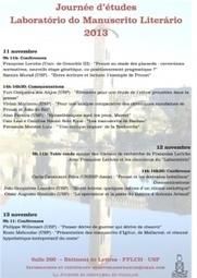 "Journée d'études : ""Laboratório do Manuscrito Literário 2013""   ITEM   Textual Scholarship   Scoop.it"