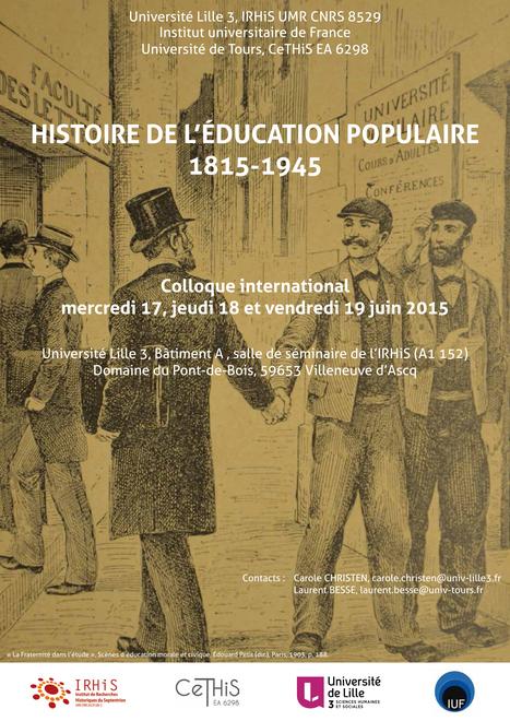 Histoire de l'éducation populaire 1815-1945 - - Université Lille 3 | educpop | Scoop.it