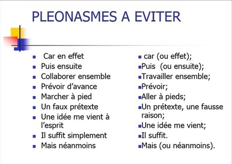 Pléonasmes à éviter | Remue-méninges FLE | Scoop.it