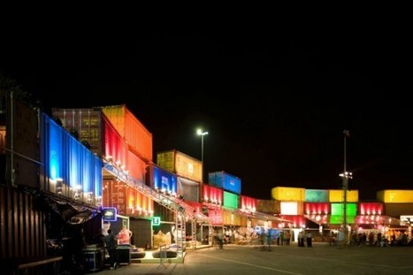 Illuminated Shipping Container Wall is a Temporary Music Festival Venue in Rio de Janeiro | Inhabitat - Green Design Will Save the World | Container Architecture | Scoop.it