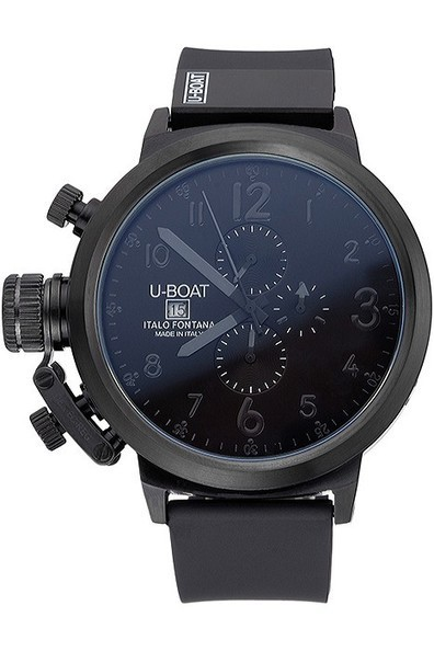 Replica U-Boat Flightdeck Black Dial Black Steel Case Black Rubber Bracelet-$285.00 | Men's & Women's Replica Watches Collection Online | Scoop.it