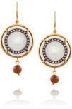 Bottega Veneta | Gold-plated, cubic zirconia and porcelain drop earrings | NET-A-PORTER.COM | fashion life | Scoop.it