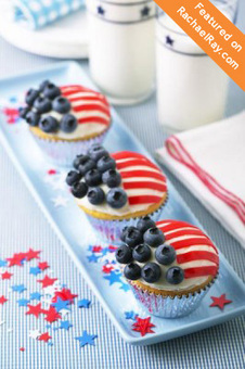 Wave The Flag Cupcakes » US Highbush Blueberry Council | Candy Buffet Weddings, Events, Food Station Buffets and Tea Parties | Scoop.it