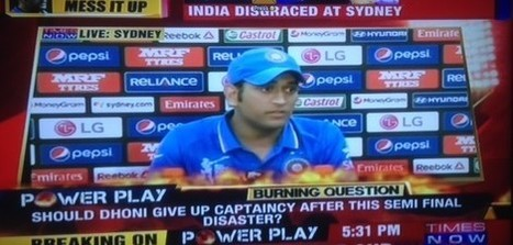 TV channels savage Dhoni after Sydney defeat - Easy Media | Easy Media | Scoop.it