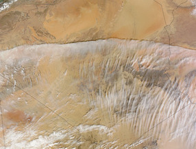 NASA MODIS Image of the Day: February 21, 2012 - Clouds over the Sahara Desert | SpaceRef - Your Space Reference | Remote Sensing News | Scoop.it