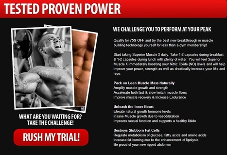 Interested In Superior Muscle X? - Must Read This Before Try it!!!! | alban donatus | Scoop.it