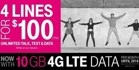 T-Mobile Offering 4 Lines for $100 Per Month ($25 Per Line!) | Personal Finance | Scoop.it