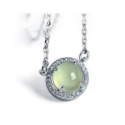 Natural Prehnite 925 Silver Swarovski Crystal Pendant - DearyBox | Jewellery On-line Boutique Shop | DearyBox.co.uk | Swarovski Crystal Necklaces | Scoop.it