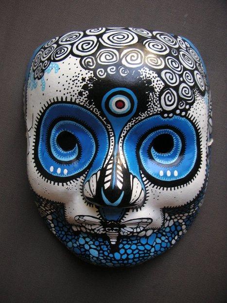 The C215 Team | The Blue Project 2006 | Masks | les Artistes du Web | Scoop.it