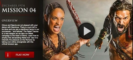 An inside look at 'Battle for Nuceria,' the Spartacus social TV experience [#Transmedia] | Transmedia: Storytelling for the Digital Age | Scoop.it