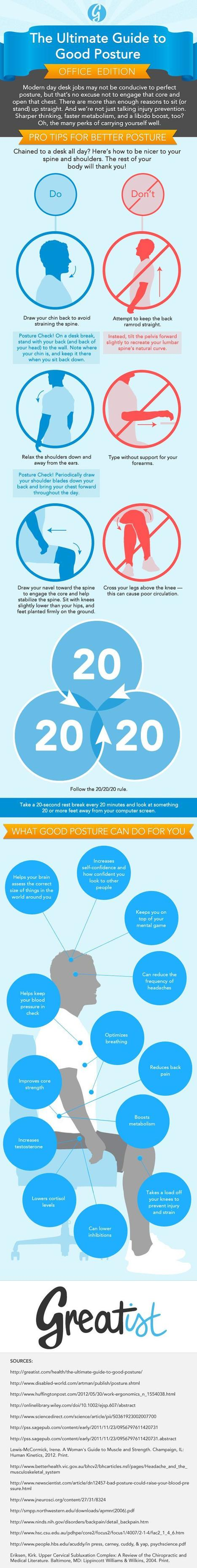 Posture-at-Work-Infographic1.jpg (604×4780) | Lifestyle | Scoop.it