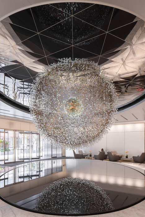 Giant #Floating #Dandelion Made of Over 3,000 #Hand-Blown #Glass #Orbs. #art #sculpture | Luby Art | Scoop.it