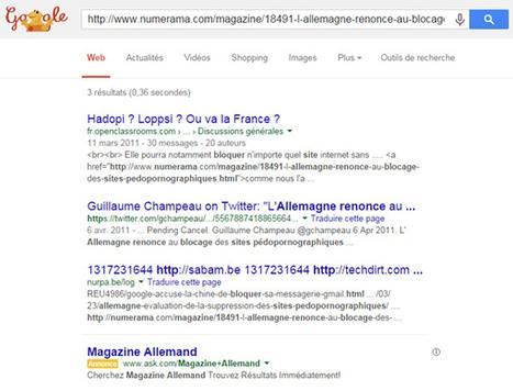 Google censure tous les articles de Numerama sur la [CENSURÉ] | Référencement naturel, liens sponsorisés + stratégie de Google | Scoop.it