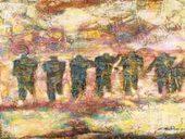 Une peinture au centre du drame, au cœur de l'homme Exposition Traversée de la Mémoire de Lazhar Hakkar au MAMA | Actions Panafricaines | Scoop.it