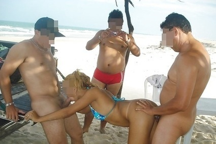 Beach sex Nude group