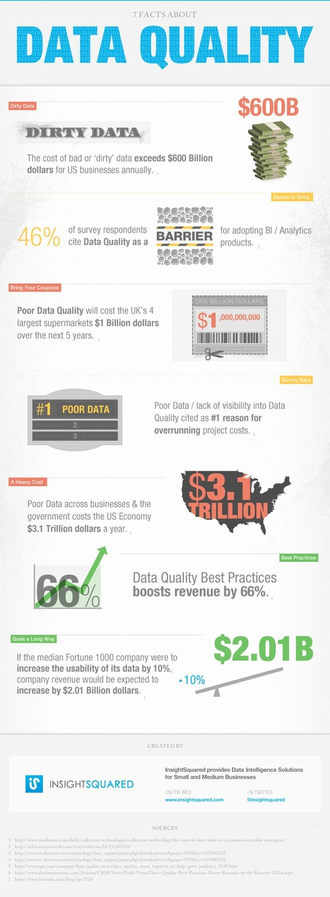 7 Facts About Data Quality [Infographic] | Marketing & Webmarketing ... | e-BUZZERS | Scoop.it