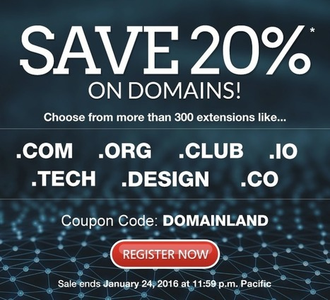 Domain.com - Get 20% Off Your Favorite Domains   Refresh Coupon Codes   Scoop.it