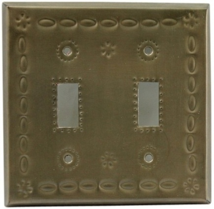 Double Switch Plate Oxidized | Mexican Decor And Furniture | Scoop.it
