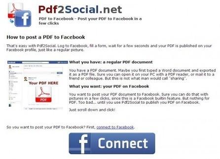 Partage de documents PDF sur Facebook, PDF2Social   Ballajack   François MAGNAN  Formateur Consultant   Scoop.it