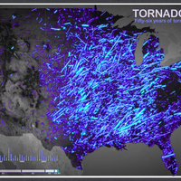Six decades of US tornadoes visualized in one stunning map | Visualization Gallery | Scoop.it