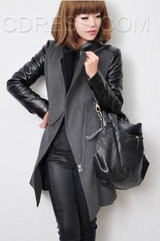 $ 30.39 Patchwork Zipper Pocket Trench Coats   FASHION-BEAUTY-CLOTHES-GIRL   Scoop.it