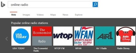 Bing search engine partners with TuneIn to deliver online radio stations | It's just the beginning | Scoop.it