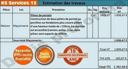KS Services 13: Chiffrage travaux piliers de portails : Bouches du Rhône | Courtier en travaux Bouches du Rhône | Scoop.it