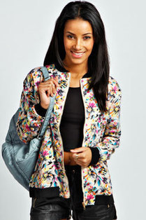 Ivy Floral Print Bomber Jacket | fashion | Scoop.it